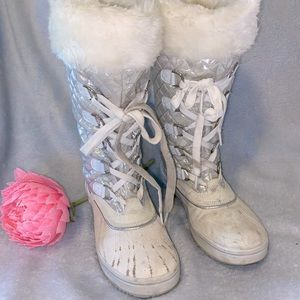 Baby Phat SQUIRT Winter Boot/ Faux Fur, Sz 6.5 GUC
